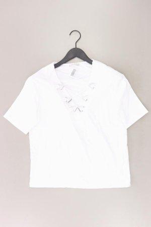 Zara Shirt mit V-Ausschnitt Größe S Kurzarm weiß aus Baumwolle
