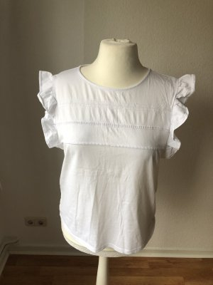 Zara Frill Top white