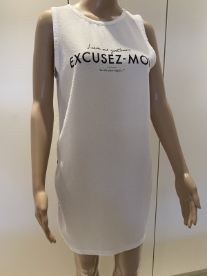 Zara Camisa larga negro-blanco