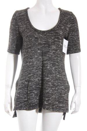 Zara Shirt schwarz-weiß meliert Casual-Look