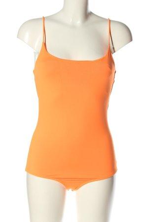 Zara Shirtbody licht Oranje casual uitstraling