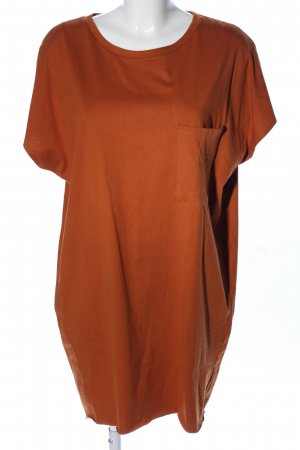Zara Robe t-shirt orange clair-bronze style décontracté