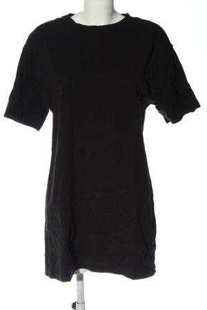 Zara Sukienka o kroju koszulki czarny W stylu casual