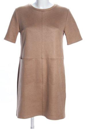Zara Shirtkleid braun Casual-Look