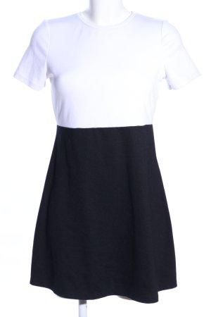 Zara Shirtkleid weiß-schwarz Casual-Look