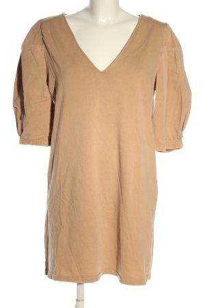 Zara Sukienka o kroju koszulki nude W stylu casual
