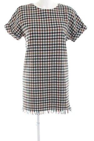 Zara Vestido estilo camisa estampado a cuadros look casual