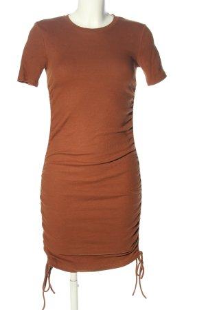 Zara Robe t-shirt brun style décontracté
