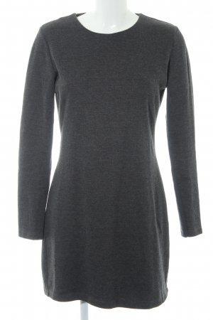 Zara Shirtkleid dunkelgrau meliert Casual-Look