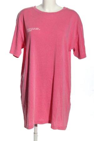Zara Chemisier rosa caratteri stampati stile casual
