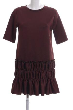 Zara Shirtkleid rot Steppmuster Elegant
