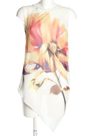 Zara Shirttunika Blumenmuster Casual-Look