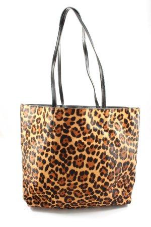Zara Shopper hellorange-braun Allover-Druck Casual-Look