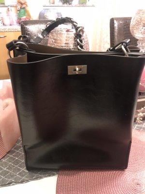 Zara-Shopper/ Handtasche mit Kettenglieder, edgy