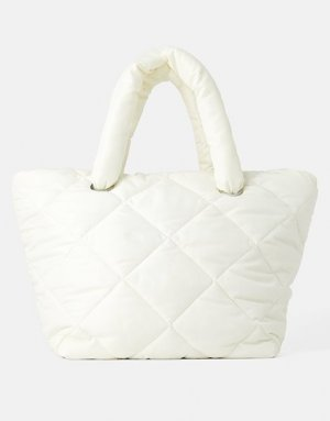 Zara Shopper Tasche gesteppt Winter Trend neuwertig Blogger pillow bag weekender