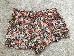 Zara Pantaloncino a vita alta multicolore