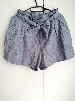 Zara Shorts High Waist kurze Hose Hotpants M 38 Schleife