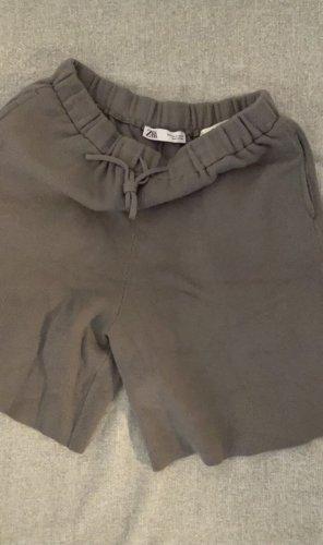 Zara Basic Short de sport gris