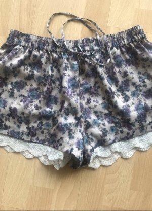 Zara Shorts hot pants M 36 Blumen spitze
