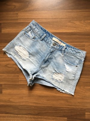Zara Shorts Jeansshorts Gr. 36 ripped destroyed hellblau