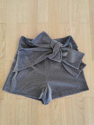 Zara Shorts Silber/Metallic Neu