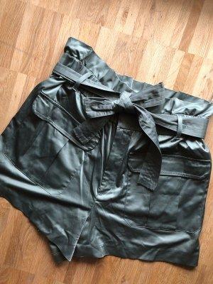 Zara Shorts XL 42 khaki neu High Waist Satin