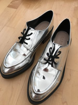Zara silver brogue
