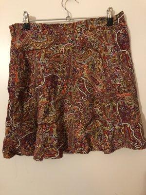 Zara Woman Falda de lino multicolor