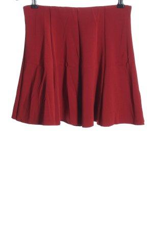 Zara Skaterska spódnica czerwony Warkoczowy wzór W stylu casual