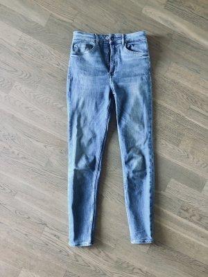 Zara Skinny High Waist Jeans S 36 Hellblau 80s