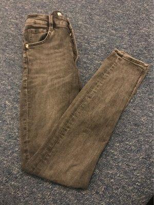 Zara Jeans taille haute gris