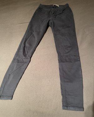 Zara Basic Pantalón elástico gris-gris oscuro Licra