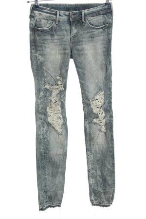 Zara Skinny Jeans hellgrau Casual-Look
