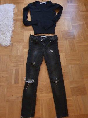 Zara Basic Regenpijpbroek zwart