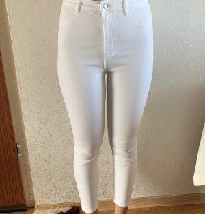 Zara Pantalon strech blanc