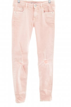 Zara Skinny Jeans apricot Casual-Look