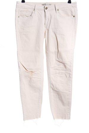 Zara Skinny Jeans wollweiß Casual-Look