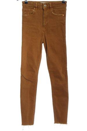 Zara Skinny Jeans braun Casual-Look