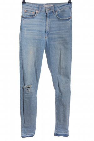 Zara Skinny Jeans blau Street-Fashion-Look