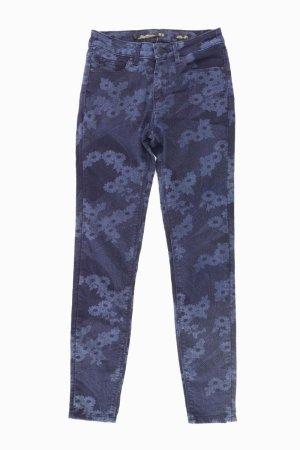 Zara Skinny Jeans Größe 34 mit Blumenmuster blau aus Baumwolle