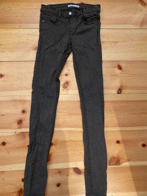 ZARA Skinny-Jeans in Khaki