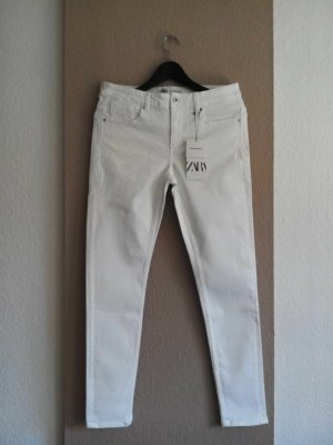 Zara Skinny Jeans in wollweiss, Grösse 40, neu