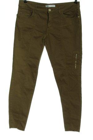 Zara Skinny Jeans khaki Casual-Look