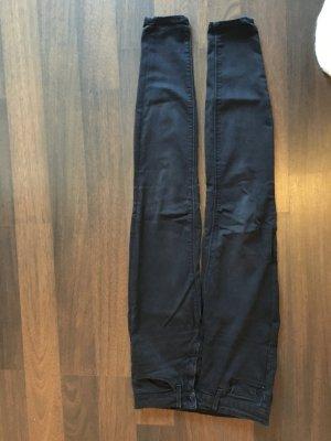 Zara, Skinny Jeans, Medium Rise, Midwaist, XS, Größe 34, schwarz, Röhrenjeans, Stretch