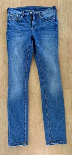 Zara Skinny Jeans, Mid Waist, Hellblau