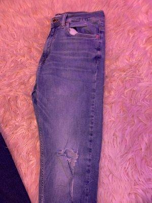 zara skinny jeans mit knieschnlitz