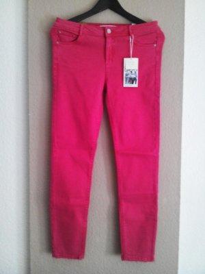 Zara Skinny Jeans mit mitelhohem Bund in Pink, Modell Curves Push Up, Größe 40 neu