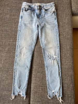 Zara Skinny Jeans mit Perlen