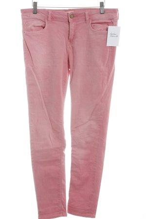Zara Skinny Jeans rosa Casual-Look