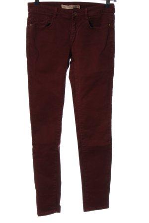 Zara Skinny Jeans rot Casual-Look